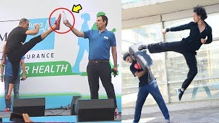 Download Akshay Kumar Vs Tiger Shroff Karate STUNTS In Public - Who Is Better Video