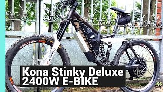 Download Der Todes E Bike DIY EBIKE KONA STINKY 2000W 60KMH E-DH BIKE 48V 45A 20AH 2KW UMBAU Video