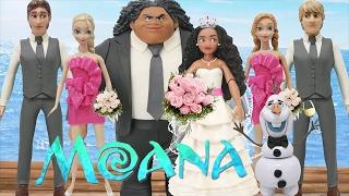 Download Play Doh Wedding Dress ″Moana″ & Maui - Elsa Anna Hans Kristoff Olaf ″Frozen″ Video