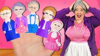 Download Finger Family Song - Extended Family! Daddy Finger Nursery Rhyme with Grandma and Grandpa Video