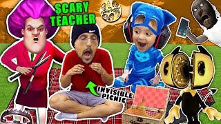 Download SCARY TEACHER GAME & the Invisible Picnic! FGTEEV finishes Bendy and the Ink Machine Chapter 5 Video