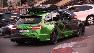 Download Audi RS6 C7 Avant with Akrapovic - Exhaust SOUNDS in Monaco! Video