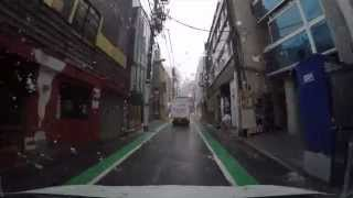 Download Driving in Tokyo - Around Shibuya in the snow Video