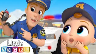 Download Policeman Keeps Us Safe | Safety Tips | Little Angel Nursery Rhymes and Kids Songs Video