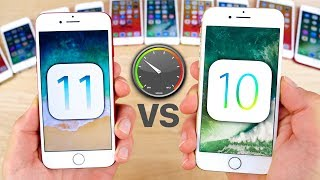 Download iOS 11 vs 10.3.3 Speed Test on ALL iPhones! Video