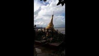 Download Birmanie: des inondations avalent une pagode Video