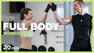 Download FULL BODY WORKOUT - 20 min | Szymon Gaś & Katarzyna Kępka Video