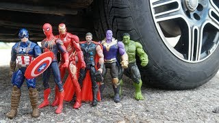 Download CAR VS SPIDERMAN VS IRON MAN VS THOR VS HULK VS CAPTAIN AMERICA VS THANOS Video