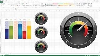 Download Creating KPI Dashboard with gauges - Excel Dashboard Templates Video