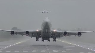 Download The Beauty of Boeing 747 my Favourite moments landing and takeoffs Video