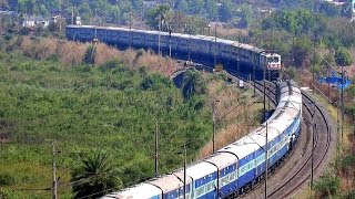 Download TRAIN CROSSING AT BEAUTIFUL SPOT ! INDIAN TRAIN FROM HILL Video