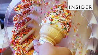 Download Cover Your Frozen Treats with a Sprinkle Machine Video