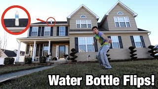 Download I DID THE HIGHEST WATER BOTTLE FLIP IN THE WORLD! *INSANE WATER BOTTLE FLIPS* Video
