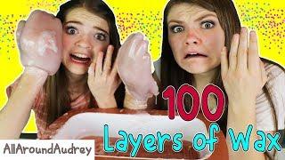 Download 100 Layers Of Wax Challenge! HUGE HANDS!! / AllAroundAudrey Video