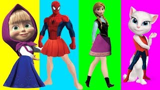Download Wrong Dress for Anna, Masha, Talking Angela and other Favorite cartoon heroes!! Video