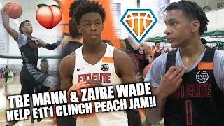 Download Zaire Wade & Tre Mann HELP E1T1 CLINCH PEACH JAM BIRTH!! | EYBL Hampton Highlights Video