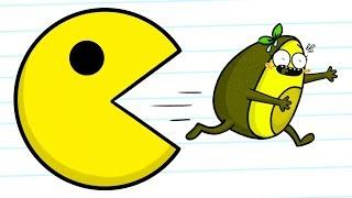 Download Pacman VS Vegetables - Cartoons Video