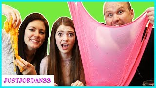 Download Mom vs Dad SLIME CHALLENGE / JustJordan33 Video
