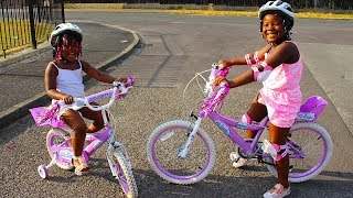 Download Children BICYCLE Shopping   Kids Learns How To Ride A Bike Video