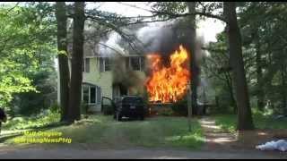 Download Mendon, Ma pre arrival fatal house fire Video