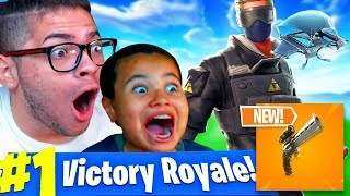 Download *NEW* SCOPED REVOLVER GAMEPLAY IN FORTNITE BATTLE ROYALE!! 10 YEAR OLD SQUEAKER BEATS EVERYONE!!! Video
