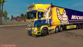 Download ETS2 Scania RJL Michelin Skin & Trailer Mod Showcase Video