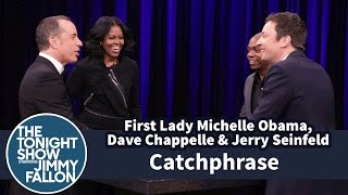 Download Catchphrase with First Lady Michelle Obama, Dave Chappelle and Jerry Seinfeld Video