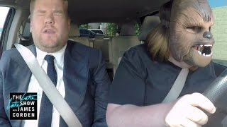 Download Chewbacca Mom Takes James Corden to Work Video