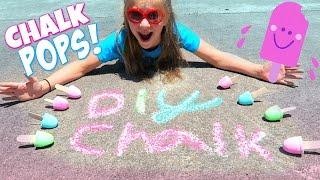 Download DIY CHALK POPS! Make Sidewalk Chalk Popsicles! Video