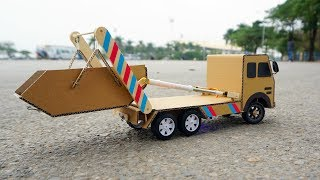 Download How to make Remote control Truck - Skip loader truck / Skip Lifts - Garbage Truck for Chidren Video
