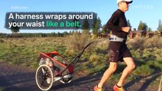 Download This human chariot lets you bring your kids on jogs Video