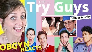 Download ObGyn Reacts: Try Guys DELIVER A BABY?! Video