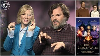 Download Jack Black, Cate Blanchett, Eli Roth & Owen Vaccaro Interview - The House with a Clock in its Walls Video