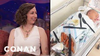 Download Kristen Schaal Has A Big Baby - CONAN on TBS Video