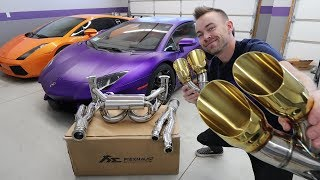 Download $12,000 Exhaust for my Lamborghini Aventador!! Video