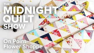 Download Scrappy On Point Triangle Quilt (an FMQ Love Story) | Midnight Quilt Show with Angela Walters Video