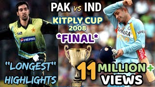 Download KITPLY Cup *FINAL* - INDIA vs PAKISTAN    THE MOTHER of ALL FINAL in WORLD CRICKET    2008 DHAKA Video
