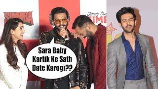 Download Sara Ali Khan BLUSH When Ranveer Singh Speaks about Kartik Aryaan | Ranveer Singh Makes Fun of Sara Video