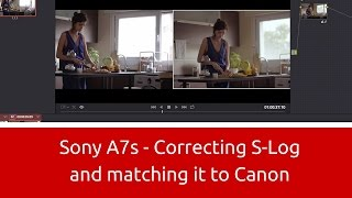 Download Sony a7S - Correcting S-Log and Matching it to Canon Video
