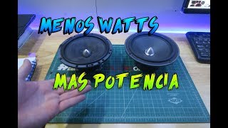 Download SUENA MAS DURO Y CON MENOS WATTS | POTENCIA VS EFICIENCIA | CAR AUDIO Video
