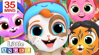 Download We Are Doing The Animal Dance | Face Paint Song | Little Angel Kids Songs Video