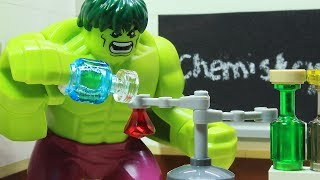 Download Lego Hulk School Superhero Stop Motion - Chemistry Class Video