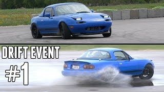 Download Turbo Miata Drift Event #1 - Finally Getting the Hang of Drifting! Video