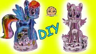 Download Chromies Ponies Fail ! My Little Pony DIY Metallic Craft Kit Rainbow Dash + Twilight Video