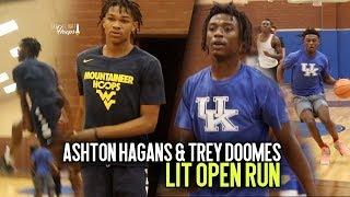 Download Kentucky Bound Ashton Hagans & WVU Commit Trey Doomes TAKE OVER LIT Open Run Session!!! Video