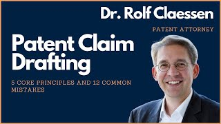 Download Patent Claim Drafting - 5 Core Principles - 12 Common Mistakes - My Favorite Strategy #rolfclaessen Video