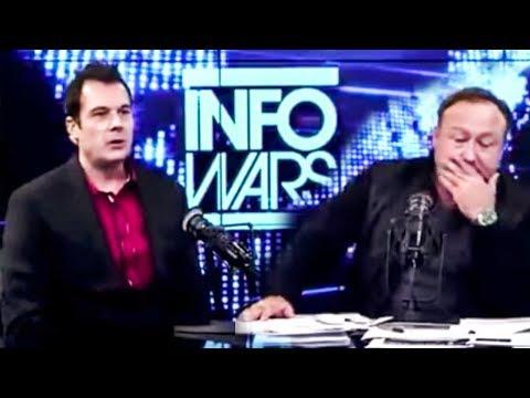 Hilarious: Alex Jones Keeps Interrupting His Clueless Co-Host