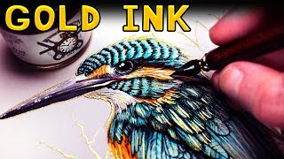 Download Drawing with GOLD INK for the FIRST TIME Video