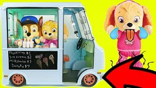 Download Paw Patrol Ice Cream Truck Refrigerator Fridge Supermarket Shopping Pig Toddlers Learning Kids Rocks Video