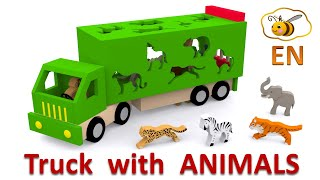 Download Trucks for children. Learn wild animals in English! Cartoons for babies 1 year Video
